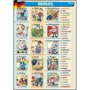Plansza Edukacyjna Niemiecki. Berufe