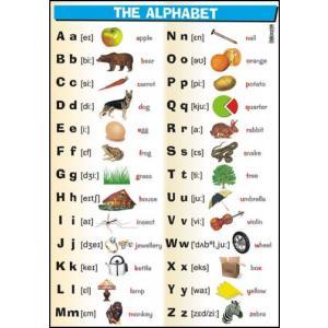 Plansza edukacyjna Angielski. Alphabet