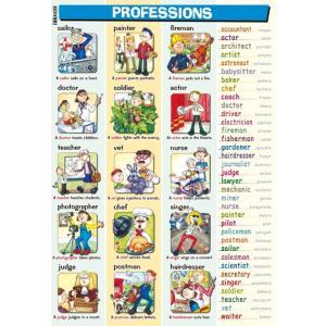 Plansza edukacyjna Angielski. Professions