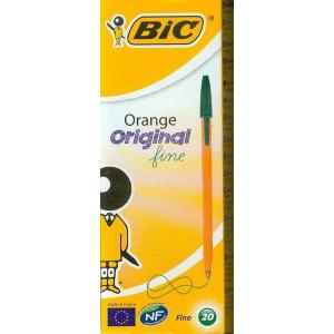 Długopis Bic orange zielony