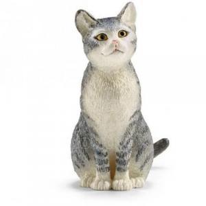 Figurka kot siedzący