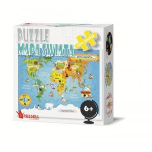 Puzzle Mapa Świata 100