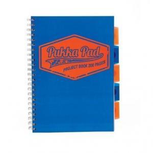Kołozeszyt A4 Pukka Pad Neon w kratkę 200 kartek niebieski