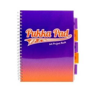 Kołozeszyt A4 Pukka Pad Fusion w kratkę 200 kartek niebieski