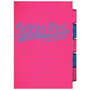 Kołozeszyt A4 Pukka Pad Neon Dots w kratkę 200 kartek różowy