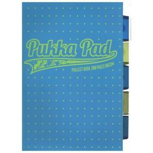 Kołozeszyt A4 Pukka Pad Neon Dots w kratkę 200 kartek niebieski