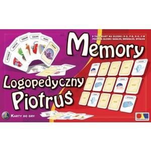 Logopedyczny Piotruś Zestaw 3 Memory głoski: P B K G T D F W