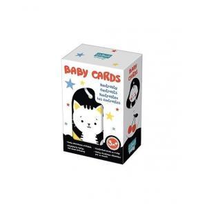 Karty na klipsie Baby Cards Kontrasty