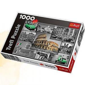 Rzym Kolaż Puzzle 1000 Elementów Karton