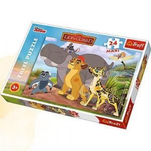 Puzzle 24 maxi Dzielni strażacy
