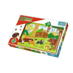 Puzzle 15 Maxi Zwierzeta w lesie