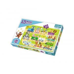 Puzzle 15 Maxi Pociąg z cyferkami