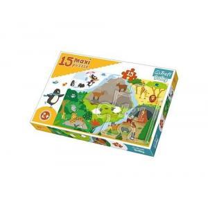 Puzzle 15 Maxi Zwierzątka i ich domki