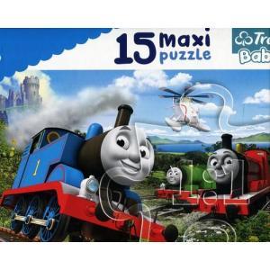 Puzzle 15 Maxi Tomek i przyjaciele. Pędzące lokomotywy
