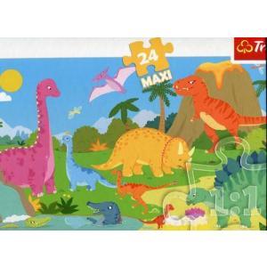 Puzzle 24 Maxi W świecie dinozaurów