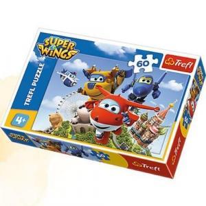 Puzzle 60 Super Wings Lot dookoła świata