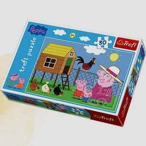 Puzzle 30 Świnka Peppa Wizyta w kurniku