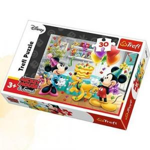 Puzzle 30 Tort urodzinowy Myszka Miki