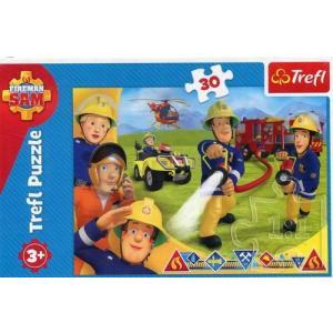 Puzzle 30 Strażak Sam Gotowi by pomagać