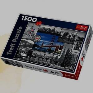 San Francisco Kolaż Puzzle 1500 Elementów