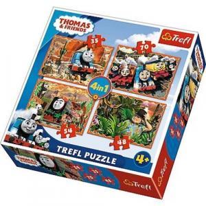 Puzzle 4 w 1 Tomek i przyjaciele. Podróże po świecie
