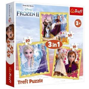 Puzzle 3 w 1 Kraina Lodu 2 Moc Anny i Elsy