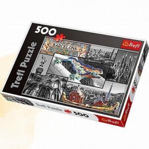 Barcelona. Kolaż. Puzzle. 500 elementów. Karton