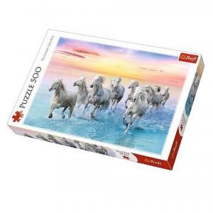 Puzzle Białe konie w galopie 500