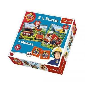 Puzzle 2w1+memos Strażak Sam Strażacy w akcji