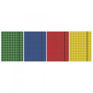 Teczka z gumką A4 Szkocka kratka mix kolorów