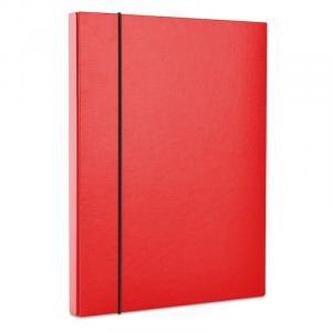 Teczka pudełko z gumką A4 czerwona