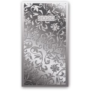 11TBR-G01 Kalendarz 2020 Kieszonkowy tygodniowy A6 VIVELLA srebrny