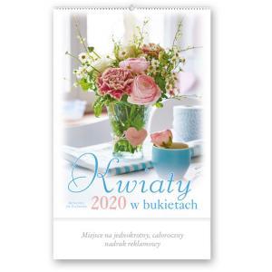 RA01 Kalendarz artystyczny 2020. Kwiaty w bukietach