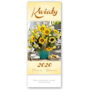 TW03 Kalendarz trójdzielny wieloplanszowy 2020 Kwiaty