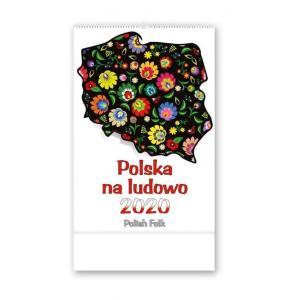 RW10 Kalendarz reklamowy 2020 Polska na ludowo