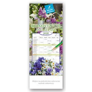 WN03 Kalendarz notatnikowy 2020 Kompozycje kwiatowe