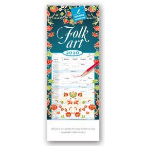 WN04 Kalendarz notatnikowy 2020 Folk Art