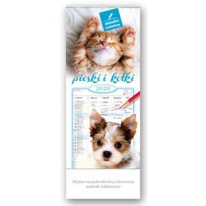 WN06 Kalendarz notatnikowy 2020 Pieski i kotki