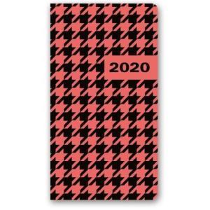 11TS-04 Kalendarz 2020 Kieszonkowy tygodniowy A6 SOFT PEPITKA
