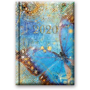 41DS-05 Kalendarz 2020 Książkowy dzienny B6 Soft Motyl