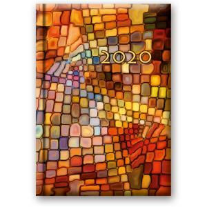 41DS-06 Kalendarz 2020 Książkowy dzienny B6 Soft Mozaika