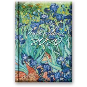 41DS-04 Kalendarz 2020 Książkowy dzienny B6 Soft Irysy