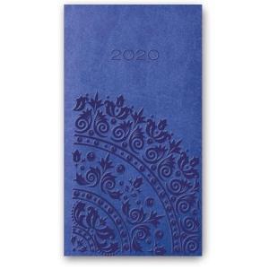 11TBR-15 Kalendarz 2020 Kieszonkowy tygodniowy A6 VIVELLA zgaszony niebieski