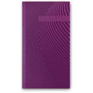 11TBR-16 Kalendarz 2020 Kieszonkowy tygodniowy A6 VIVELLA fiolet