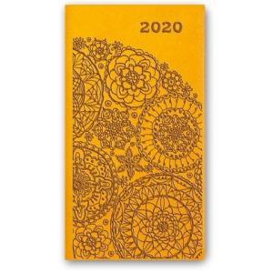 11TBR-17 Kalendarz 2020 Kieszonkowy tygodniowy A6 VIVELLA żółty
