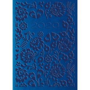 01T-04 Kalendarz 2020 Kieszonkowy 2-tygodniowy A7 VIVELLA Niebieski