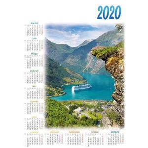 PL08 Kalendarz plakatowy 2020 Statek