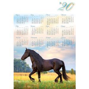 PL13 Kalendarz plakatowy 2020 Koń