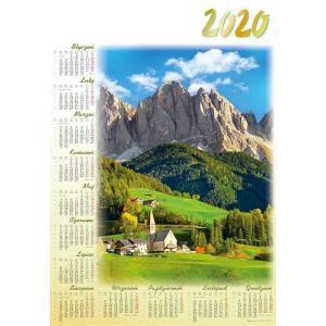 PL28 Kalendarz plakatowy 2020 Dolomity