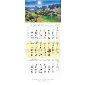 KT02 Kalendarz trójdzielny 2020 Jezioro